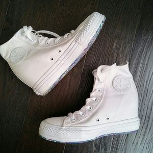 Converse White Chuck Taylor Hidden Wedge Sneakers